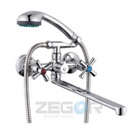 Смеситель для ванны с длинным гусаком Zegor DMT7-B722