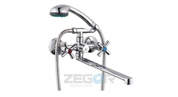 Смеситель для ванны с длинным гусаком Zegor DMT7-B722 photo1
