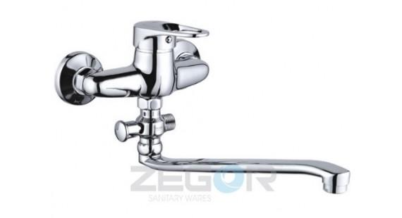 Смеситель для ванны с длинным гусаком Zegor NHK6-A048 photo1