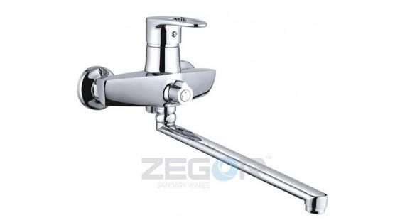 Смеситель для ванны с длинным гусаком Zegor NKE-A180 photo1