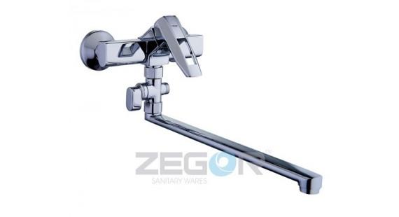 Смеситель для ванны с длинным гусаком Zegor NOF6-A033 photo1