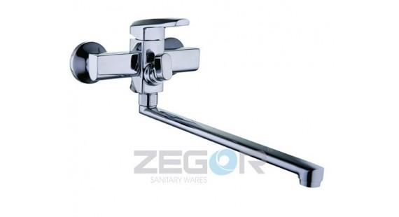 Смеситель для ванны с длинным гусаком Zegor NOF7-A033 photo1