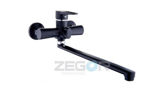 Смеситель для ванны с длинным гусаком Zegor PUD7-A045B photo1