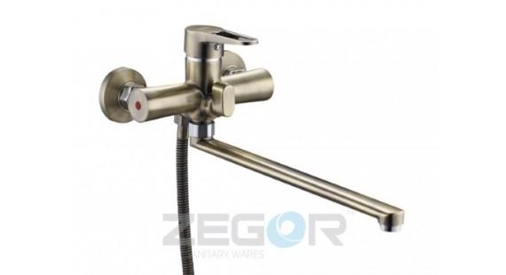 Смеситель для ванны с длинным гусаком Zegor PUD7-A045T photo1
