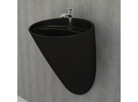 Раковина дизайнерская Bocchi VENEZIA MONOBLOCK 1083-004-0126 матовая черная