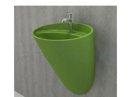 Раковина дизайнерская Bocchi VENEZIA MONOBLOCK 1083-022-0126 зелено-фисташковая