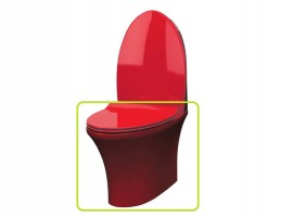 Чаша напольного унитаза IDEVIT Rena 2904-0206-08 красный