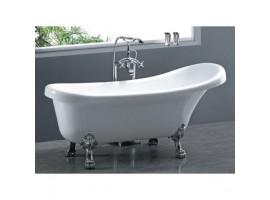 Ванна акриловая Atlantis C-3015 170x70 белая ножки серебро