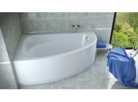 Ванна акриловая Besco CORNEA 140х80 см левая
