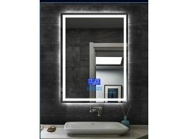 Зеркало Dusel c ЛЕД подсветкой DE-M0061S1 Black 65x80 см сенсорное вкл, подогрев