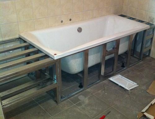 Укорачиваем экран под заданные размеры ванны