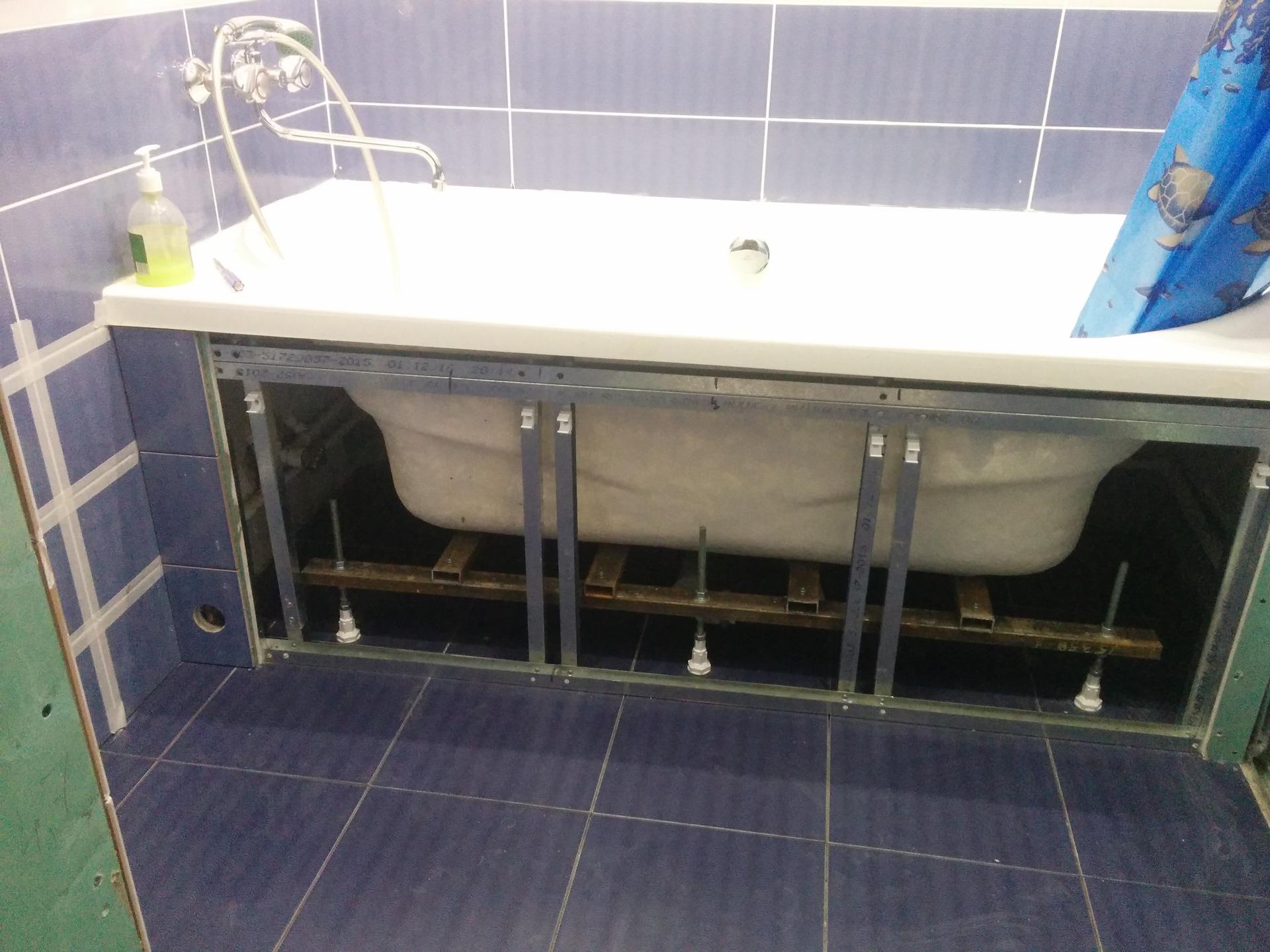 эпаты уменьшения длины панели под ванную